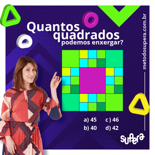 Desafio: quantos quadrados supera criciúma