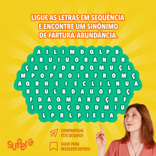 Desafio: encontre o sinônimo. Exercício para o cérebro